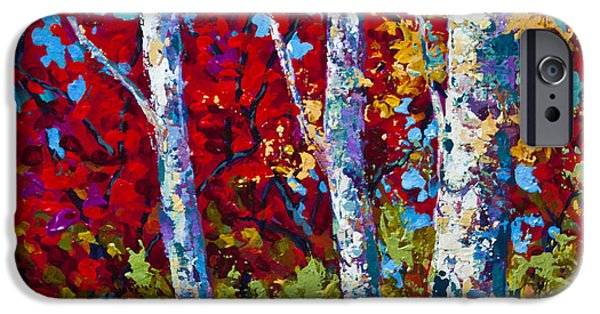 Birch iPhone Cases - A Quiet Pause iPhone Case by Marion Rose