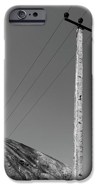 IPhone 6 Case featuring the photograph A Rock And A Pole, Hampi, 2017 by Hitendra SINKAR