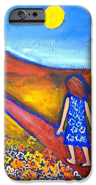 IPhone 6 Case featuring the painting A Sunny Path by Winsome Gunning