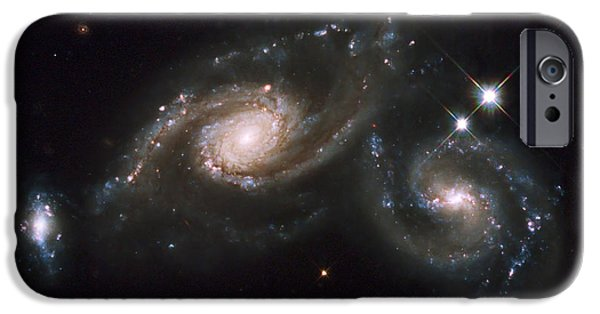 Merging iPhone Cases - A Triplet Of Galaxies Known As Arp 274 iPhone Case by Stocktrek Images