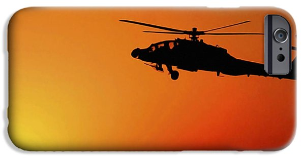 Recently Sold -  - Iraq iPhone Cases - A U.s. Army A-64 Apache Helicopter iPhone Case by Stocktrek Images
