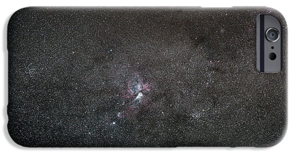 Nebula Images iPhone Cases - A Wide Field View Centered On The Eta iPhone Case by Luis Argerich