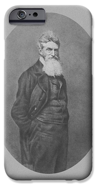 American History iPhone Cases - Abolitionist John Brown iPhone Case by War Is Hell Store