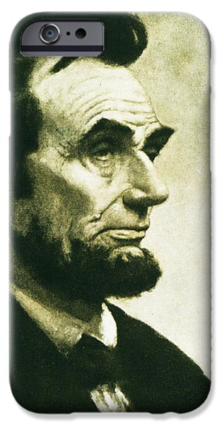 Lincoln iPhone Cases - Abraham Lincoln iPhone Case by The Baltimore and Ohio Railroad