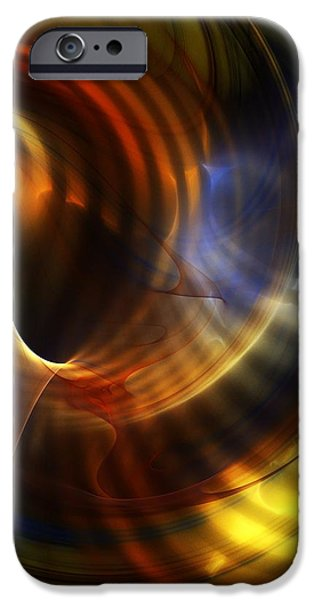 Fine Art Fractal iPhone Cases - Abstract 040511 iPhone Case by David Lane