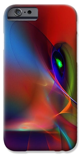 Flame Fractal iPhone Cases - Abstract 042612A iPhone Case by David Lane