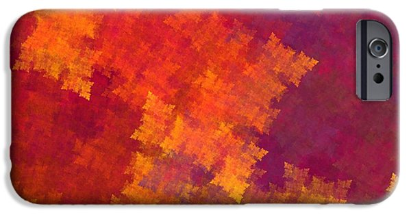 Business Digital Art iPhone Cases - Abstract Art Image #1409257 iPhone Case by Xiaokuan Ren