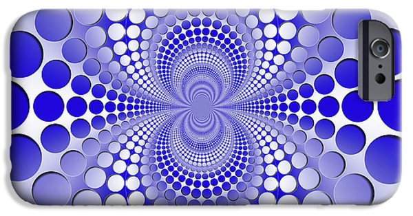 iPhone 6 Case - Abstract Blue And White Pattern by Vladimir Sergeev