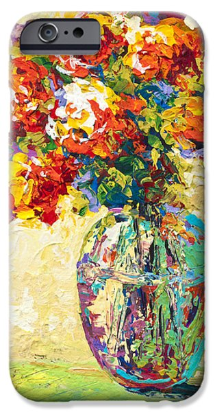 Flower Still Life iPhone Cases - Abstract Boquet IV iPhone Case by Marion Rose