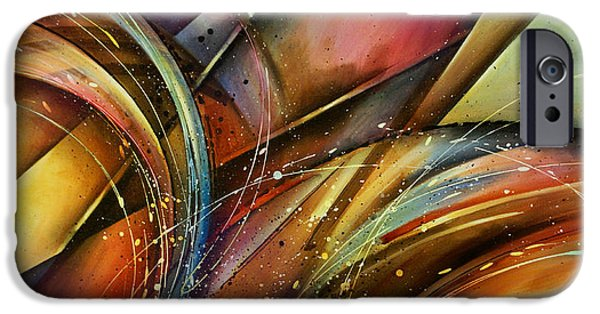 """geometric Art"" iPhone Cases - Abstract Design 111 iPhone Case by Michael Lang"