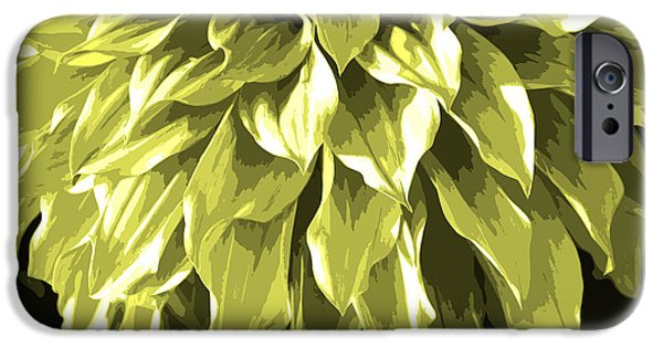 Nature Divine iPhone Cases - Abstract Flower 5 iPhone Case by Sumit Mehndiratta