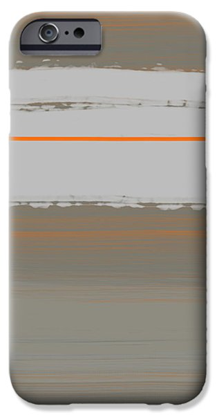 Abstract Forms iPhone Cases - Abstract Orange 4 iPhone Case by Naxart Studio