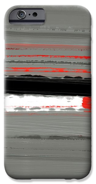 Abstracted iPhone Cases - Abstract Red 4 iPhone Case by Naxart Studio