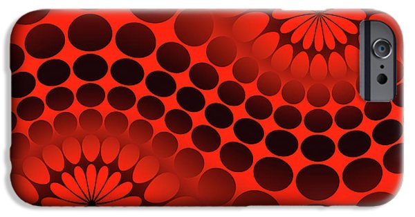 iPhone 6 Case - Abstract Red And Black Ornament by Vladimir Sergeev