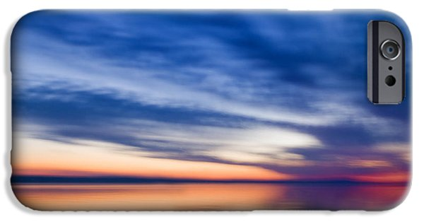 Abstract Seascape iPhone Cases - Abstract Seascape iPhone Case by Silke Magino