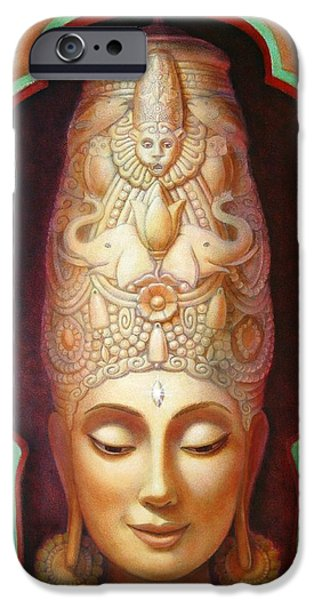 Hindu Goddess iPhone Cases - Abundance Meditation iPhone Case by Sue Halstenberg