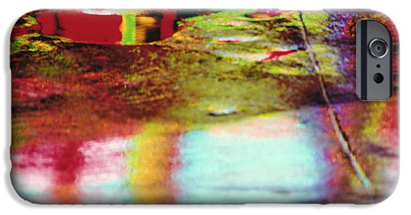 Total Abstract iPhone Cases - After The Rain Abstract 2 iPhone Case by Tony Cordoza