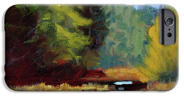 IPhone 6 Case featuring the painting Afternoon On The River by Nancy Merkle