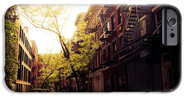 Village iPhone Cases - Afternoon Sunlight on a New York City Street iPhone Case by Vivienne Gucwa