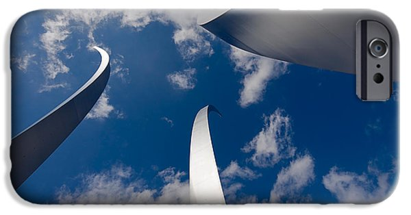 Best Sellers -  - Stainless Steel iPhone Cases - Air Force Memorial iPhone Case by Louise Heusinkveld