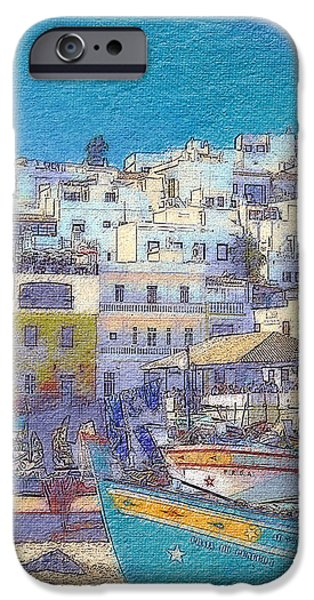 Michael iPhone Cases - Albufeira Boats iPhone Case by Mikehoward Photography
