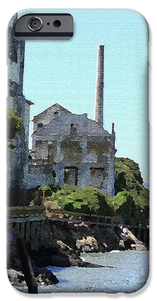 Alcatraz iPhone Cases - Alcatraz Island - Palette Knife iPhone Case by Lou Ford