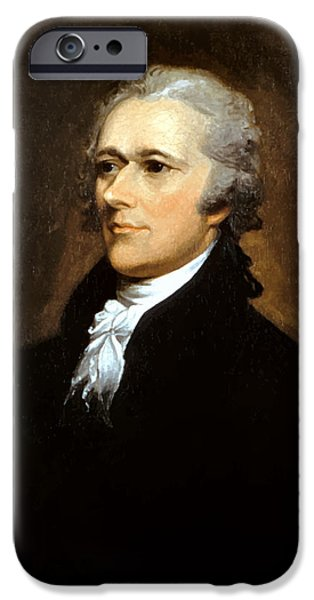 Politician iPhone Cases - Alexander Hamilton iPhone Case by War Is Hell Store