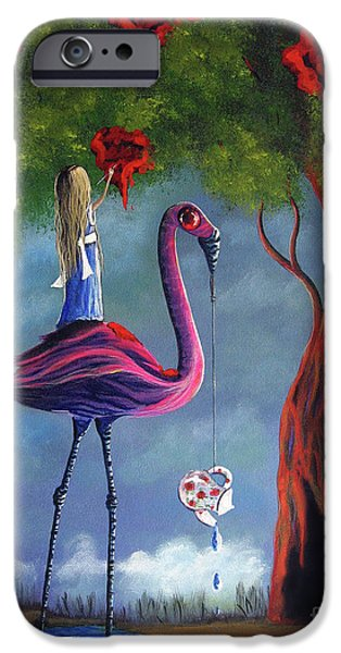 Red Rose iPhone 6 Case - Alice In Wonderland Artwork  by Erback Art