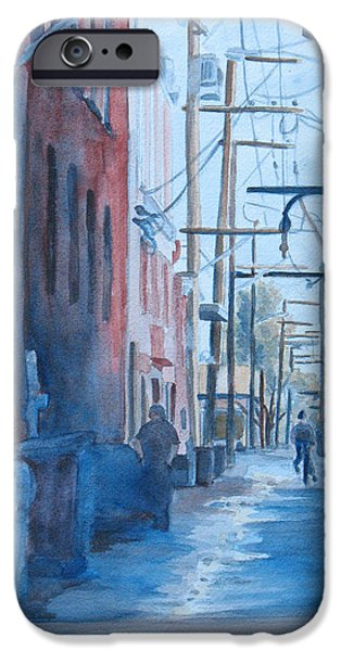 Alley Paintings iPhone Cases - Alley Shortcut iPhone Case by Jenny Armitage