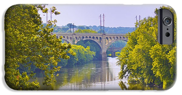 Schuylkill iPhone Cases - Along the Schuylkill River in Manayunk iPhone Case by Bill Cannon