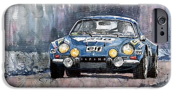 Racing iPhone Cases - Alpine A 110 iPhone Case by Yuriy  Shevchuk
