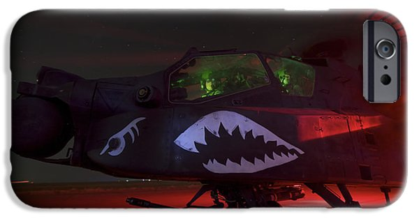 Iraq iPhone Cases - An Ah-64d Apache Longbow iPhone Case by Terry Moore