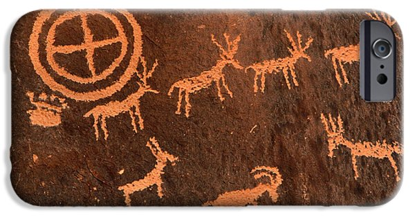 Hopi iPhone Cases - Ancient Indian Petroglyphs iPhone Case by Gary Whitton