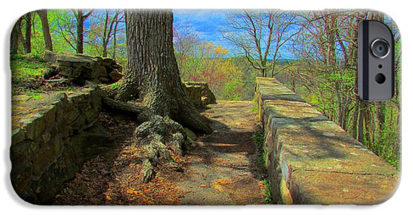 Michael iPhone Cases - Ancient Pathway iPhone Case by Michael Rucker