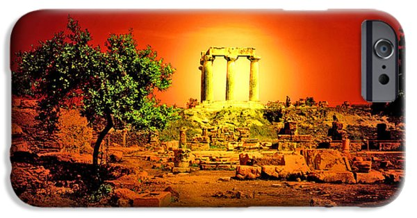 Athens Ruins iPhone Cases - Ancient Ruins iPhone Case by Madeline Ellis