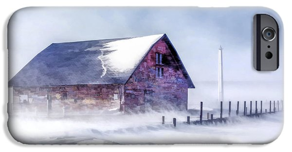 IPhone 6 Case featuring the painting Anderson Dock Winter Storm by Christopher Arndt