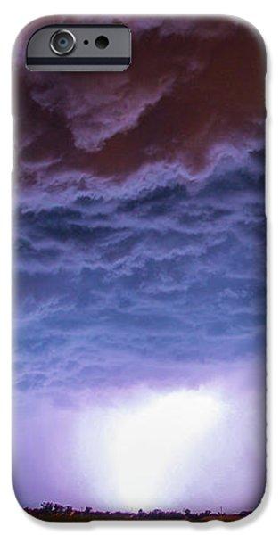 Nebraskasc iPhone 6 Case - Another Impressive Nebraska Night Thunderstorm 007 by NebraskaSC