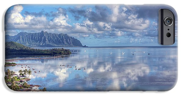 Fish Pond iPhone Cases - Another Kaneohe Morning iPhone Case by Dan McManus
