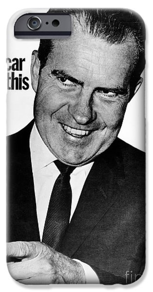 Candidate iPhone Cases - Anti-nixon Poster, 1960 iPhone Case by Granger