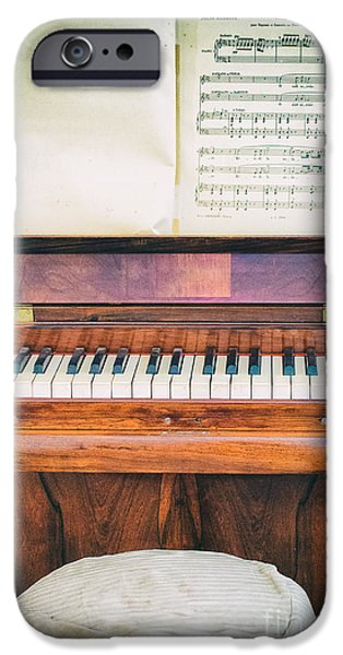 IPhone 6 Case featuring the photograph Antique Piano And Music Sheet by Silvia Ganora