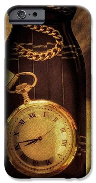 Antique Pocket Watch In A Bottle IPhone 6 Case by Susan Candelario