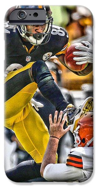 Brown iPhone 6 Case - Antonio Brown Steelers Art 5 by Joe Hamilton