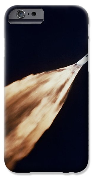Fireball iPhone Cases - Apollo 6 Spacecraft Leaves A Fiery iPhone Case by Stocktrek Images