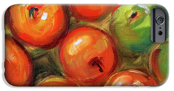 IPhone 6 Case featuring the painting Apple Barrel Still Life by Nancy Merkle