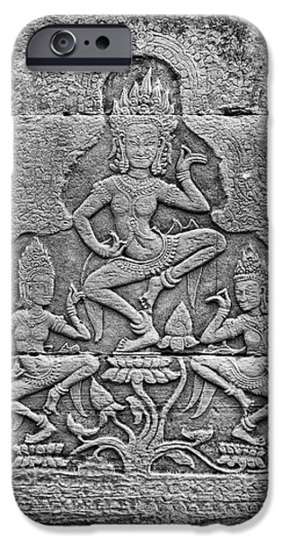 IPhone 6 Case featuring the photograph Apsaras 3, Angkor, 2014 by Hitendra SINKAR