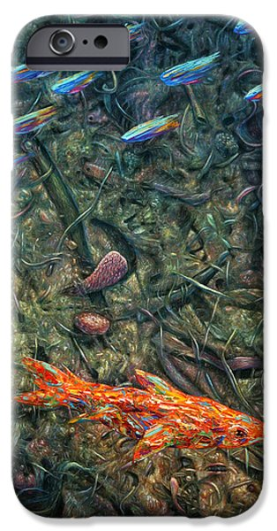 Aquarium Fish iPhone Cases - Aquarium 2 iPhone Case by James W Johnson