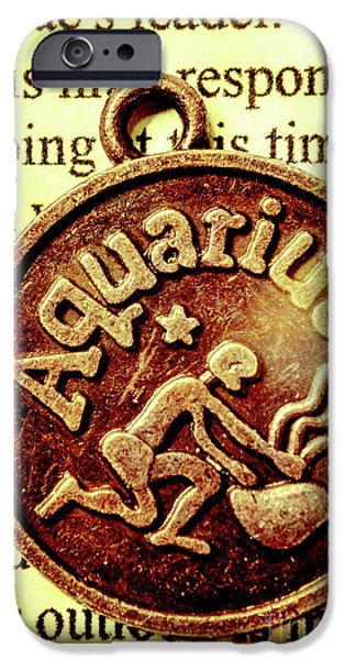IPhone 6 Case featuring the photograph Aquarius Zodiac Sign by Jorgo Photography - Wall Art Gallery