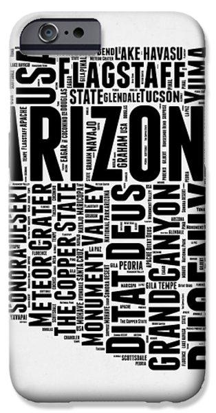 Arizona Word Cloud Map 2 IPhone 6 Case