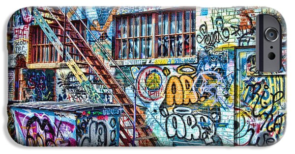 Alley iPhone Cases - Art Alley 2 iPhone Case by Adam Vance