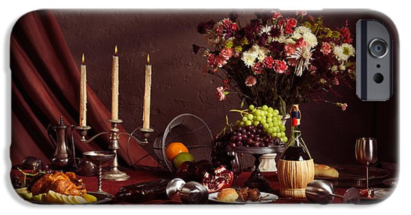 Table Wine iPhone Cases - Artistic Food Still Life iPhone Case by Oleksiy Maksymenko